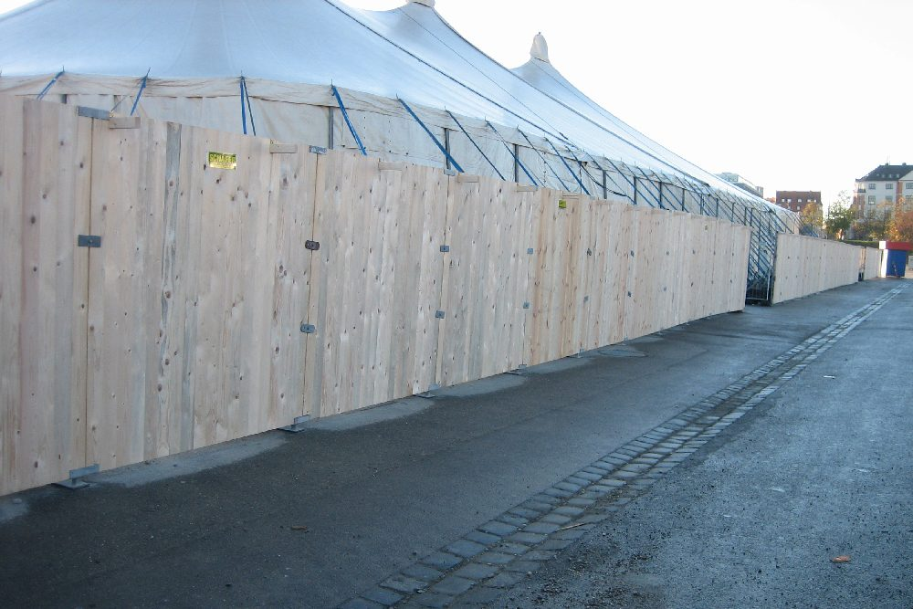 Holzbauzaun 2 m